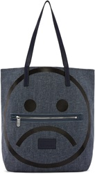 Marc By Marc Jacobs Navy Denim Unsmiley Tote