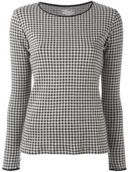 Majestic Filatures Checked Jumper Black
