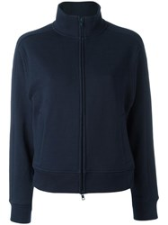 Vince Zip Up Long Sleeved Top Blue