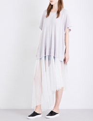 Free People Dance With Me Tulle Knitted Dress White