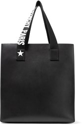 Givenchy Stargaze Printed Canvas Trimmed Leather Tote Black