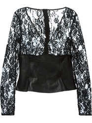 Dolce And Gabbana Vintage Floral Lace Blouse Black