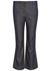 Mcq By Alexander Mcqueen Indigo Cropped Kick Flare Jeans