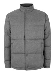 Topman Mid Grey Grey Textured Puffer Jacket