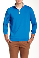 Peter Millar Perth Stretch Loop Terry Zip Sweater Blue