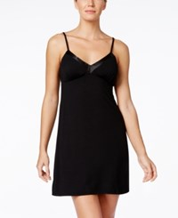 Alfani Satin Trim Padded Chemise Only At Macy's Classic Black