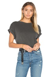 The Great Boxy Crew Neck Tee Charcoal