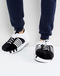 Totes Football Boot Slippers Black