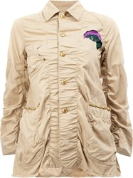 Undercover Patched Military Jacket Nude And Neutrals