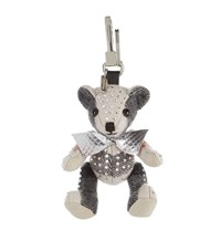 Burberry Shoes And Accessories Thomas Crystal Bear Charm Unisex Grey