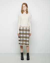 Zucca Checkered Skirt Off White