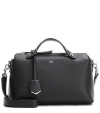 Fendi By The Way Small Leather Tote Black
