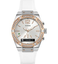 Guess C0002m2 Connect Stainless Steel And Silicone Watch