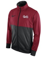 Nike Men's Cincinnati Reds Track Jacket Red Black