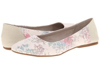 Sanuk Yoga Eden Natural Floral Women's Flat Shoes Beige