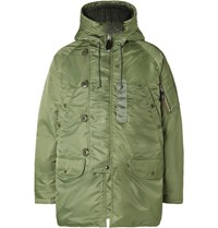 Beams Plus Quilted Shell Primaloft Down Parka Green