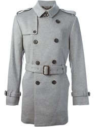 Burberry London Mid Length Trench Coat Grey
