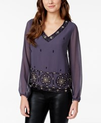 American Rag Embellished V Neck Blouse Only At Macy's