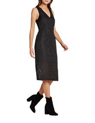 Bcbgeneration Floral Jacquard Structured Sheath Dress Black