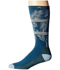 Wigwam Makua Valley Pro Majolica Blue Men's Crew Cut Socks Shoes Multi
