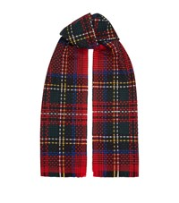 Johnstons Tartan Cashmere Scarf Red
