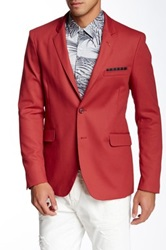 English Laundry Townhouse Red Woven Two Button Notch Lapel Jacket