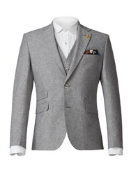 Gibson Men's Grey Linen Blend Jacket Blue