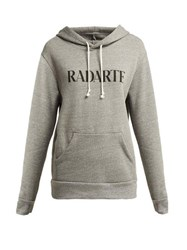 Rodarte Radarte Cotton Blend Hooded Sweatshirt Grey Multi