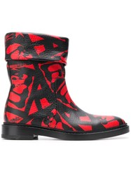 Paul Andrew Rian Boots Red