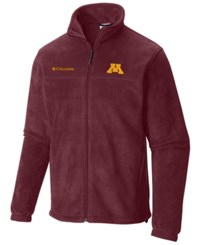 Columbia Men's Minnesota Golden Gophers Flanker Full Zip Jacket Maroon