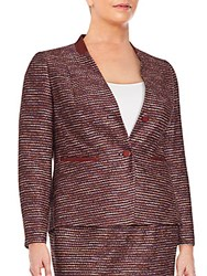 Lafayette 148 New York Sydney Textured Blazer Date Multi