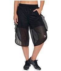 Puma Xtreme Mesh Frill Shorts Black Women's Shorts