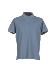 Heritage Topwear Polo Shirts Men Slate Blue