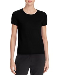 Bloomingdale's C By Short Sleeve Cashmere Sweater Black