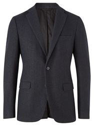 Jigsaw Spot Jacquard Tailored Blazer Navy