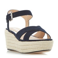 Head Over Heels Kyli Espadrille Wedge Sandal Navy