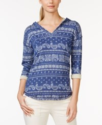 American Living Hooded Bandana Print Top Only At Macy's