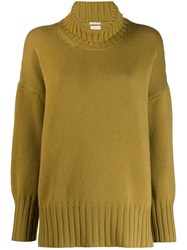 Massimo Alba Oversized High Neck Jumper Yellow