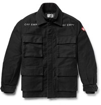 Cav Empt Convertible Cotton And Quilted Shell Field Jacket Black