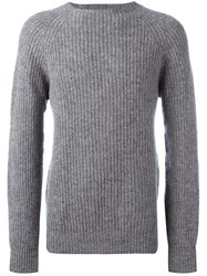 Ymc Ribbed Pullover Grey