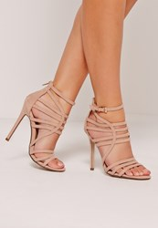 Missguided Extreme Strappy Gladiator Heels Nude