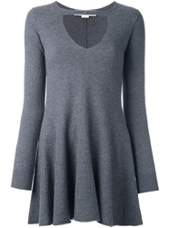 Stella Mccartney Ruffled Cut Out Blouse Grey