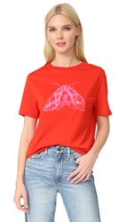 Carven Printed T Shirt Coquelicot