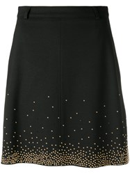 Versace Jeans Beaded Skirt Black