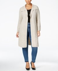 Styleandco. Style Co. Plus Size Cable Knit Duster Cardigan Only At Macy's Hammock Heather