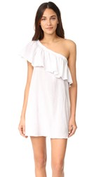 Milly One Shoulder Ruffle Cover Up White