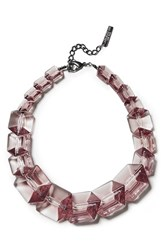 Women's Lafayette 148 New York 'Clear Link Bead' Gradient Cube Necklace