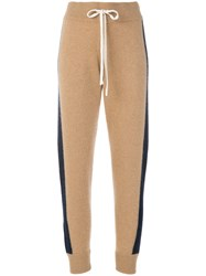 Juicy Couture Striped Track Pants Cashmere Nude Neutrals