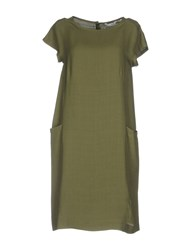 Caliban Short Dresses Military Green
