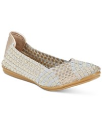 Easy Spirit Gibby Flats Women's Shoes Silver Multi Gold